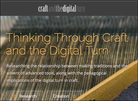 link to the website Thinking Through Craft and the Digital Turn
