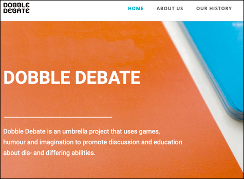link to the website Dobble Debate, a card game that encourages discussions of dis- and differing abilities